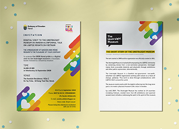 Embassy of Sweden – LGBT invitation card